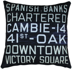 MOV Bus Scroll Throw Pillow