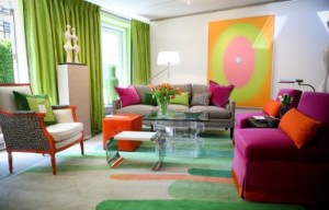 Color Blocking with Throw Pillows