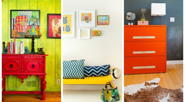Decorating when you can t paint accessories oh decor - Hand painted furniture ideas ...