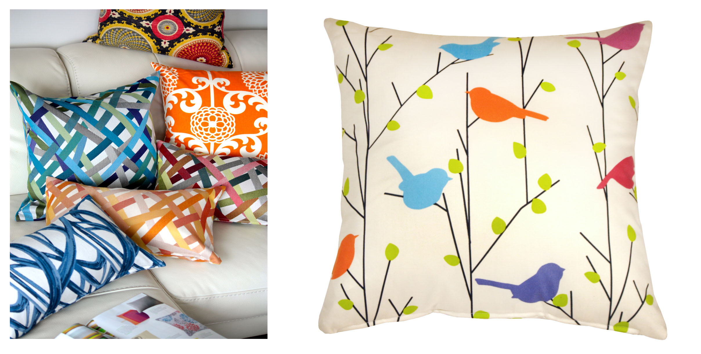 bright colored pillows oh decor