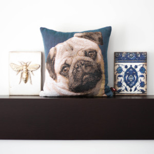 Pug French Tapestry