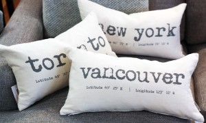 city-inspired coordinates new york toronto vancouver pillows