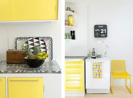 Yellow Kitchen Apartment Therapy