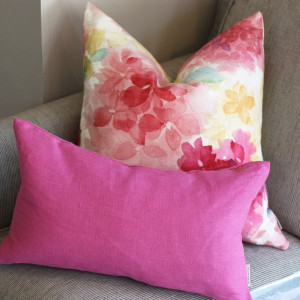 Floral Pillows Textured Pillow Deocr Linen