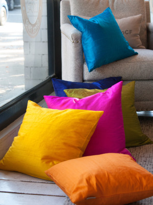 Sankara Silk Throw Pillows